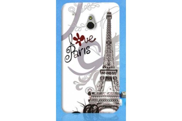 """Фирменная необычная уникальная пластиковая задняя панель-чехол-накладка для HTC One Mini""""тематика Франция"""""""