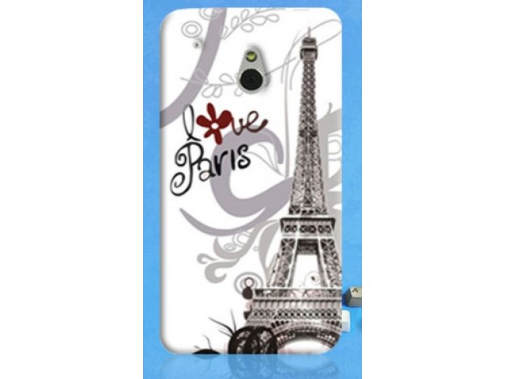 Фирменная необычная уникальная пластиковая задняя панель-чехол-накладка для HTC One Mini
