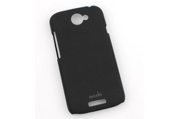Фирменная задняя панель-крышка-накладка из тончайшего и прочного пластика для  HTC One S черная