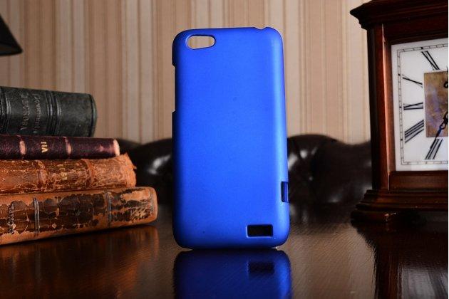 Фирменная задняя панель-крышка-накладка из тончайшего и прочного пластика для HTC One V T320e синяя