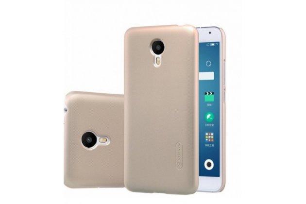 """Фирменная задняя панель-крышка-накладка из тончайшего и прочного пластика для HTC One X9 5.5""""  золотая"""