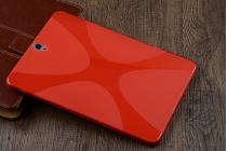 Фирменная ультра-тонкая полимерная из мягкого качественного силикона задняя панель-чехол-накладка для Samsung Galaxy Tab S3 9.7 SM-T820/T825 красная.