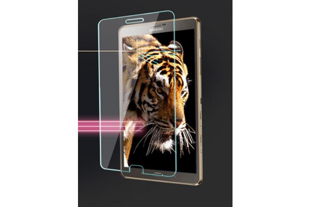 Фирменное защитное закалённое противоударное стекло премиум-класса из качественного японского материала с олеофобным покрытием для телефона Samsung Galaxy Tab S3 9.7 SM-T820/T825