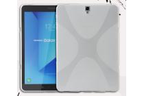 Фирменная ультра-тонкая полимерная из мягкого качественного силикона задняя панель-чехол-накладка для  Samsung Galaxy Tab S3 9.7 SM-T820/T825 светло-серая