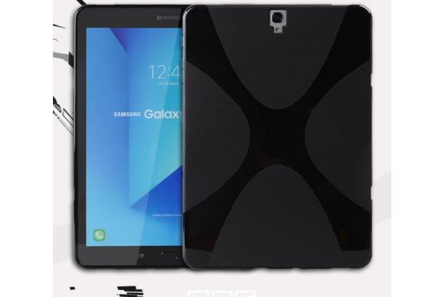 Фирменная ультра-тонкая полимерная из мягкого качественного силикона задняя панель-чехол-накладка для  Samsung Galaxy Tab S3 9.7 SM-T820/T825 черная