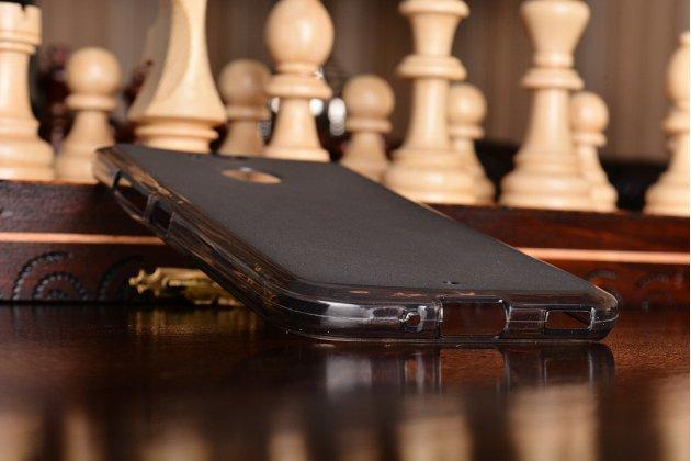 Фирменная ультра-тонкая полимерная из мягкого качественного силикона задняя панель-чехол-накладка для HTC 10 evo серая