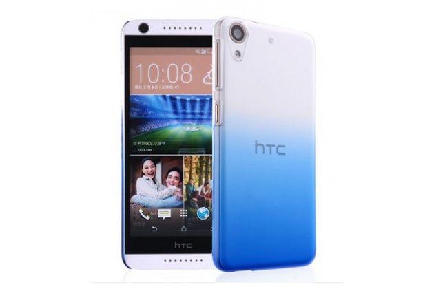 Фирменная из тонкого и лёгкого пластика задняя панель-чехол-накладка для HTC Desire 626 /626 G+ Dual Sim прозрачная с эффектом дождя