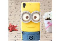 """Фирменная необычная уникальная силиконовая задняя панель-чехол-накладка для HTC Desire 626 /626 G+ Dual Sim """"тематика Миньон"""""""