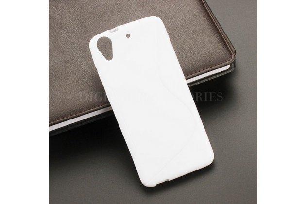 Фирменная ультра-тонкая полимерная из мягкого качественного силикона задняя панель-чехол-накладка для HTC Desire 626 /626 G+ Dual Sim белая