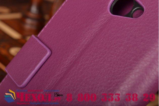 Фирменный чехол-книжка с подставкой для HTC Butterfly X920E фиолетовый