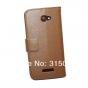 Фирменный чехол-книжка с подставкой для HTC Butterfly X920E коричневый..