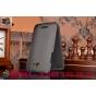 Фирменный вертикальный откидной чехол-флип для HTC Butterfly X920E черный кожаный..