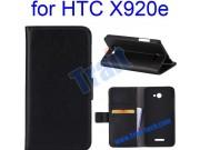 Фирменный чехол-книжка с подставкой для HTC Butterfly X920E черный..