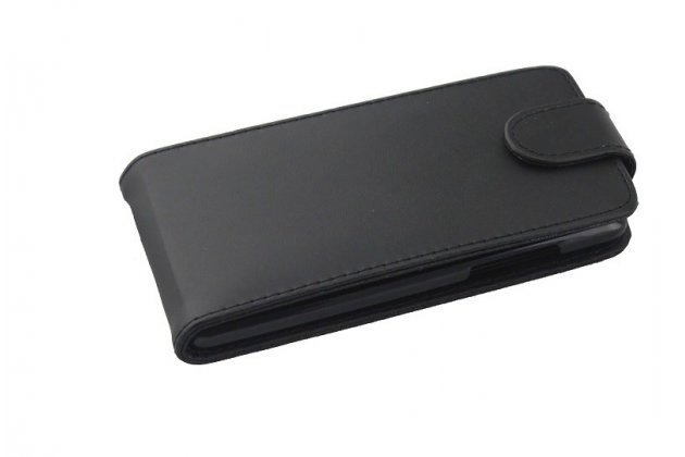 Фирменный вертикальный откидной чехол-флип из импортной кожи для HTC Desire 600 Dual Sim черный кожаный тонкий