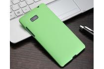 Фирменная задняя панель-крышка-накладка из тончайшего и прочного пластика для HTC Desire 600 зеленая