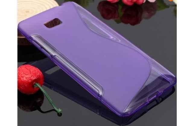 Фирменная ультра-тонкая полимерная из мягкого качественного силикона задняя панель-чехол-накладка для HTC Desire 600 dual sim фиолетовая