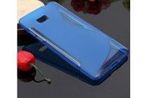 Фирменная ультра-тонкая полимерная из мягкого качественного силикона задняя панель-чехол-накладка для HTC Desire 600 dual sim голубая