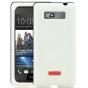 Фирменная ультра-тонкая пластиковая задняя панель-чехол-накладка для HTC Desire 600 dual sim белая..