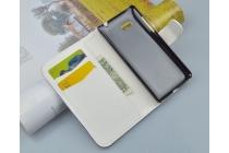 """Фирменный уникальный необычный чехол-книжка с визитницей кармашком для HTC Desire 600 Dual sim  """"тематика цветок"""""""