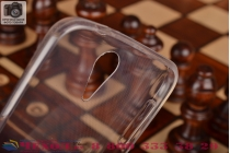 Фирменная ультра-тонкая полимерная из мягкого качественного силикона задняя панель-чехол-накладка для HTC Desire 620 белая