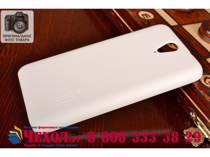 Фирменная задняя панель-крышка-накладка из тончайшего и прочного пластика для HTC Desire 620G Dual Sim белая..