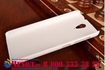 Фирменная задняя панель-крышка-накладка из тончайшего и прочного пластика для HTC Desire 620G Dual Sim белая