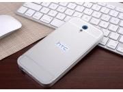 Фирменная металлическая задняя панель-крышка-накладка из тончайшего облегченного авиационного алюминия для HTC..