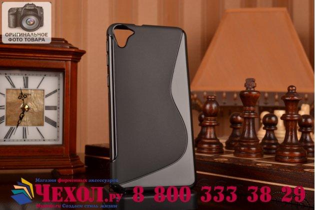 Фирменная ультра-тонкая полимерная из мягкого качественного силикона задняя панель-чехол-накладка для HTC Desire 826 черная