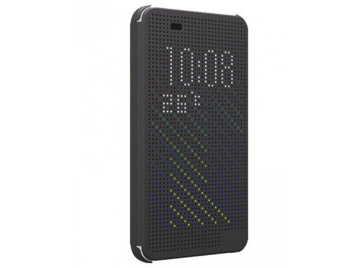 Фирменный оригинальный официальный умный чехол Dot View flip case для HTC Desire Eye черный..