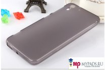 Фирменная ультра-тонкая полимерная из мягкого качественного силикона задняя панель-чехол-накладка на HTC Desire Eye черная