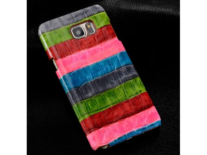 Фирменная неповторимая экзотическая панель-крышка обтянутая кожей крокодила с фактурным тиснением для HTC Desi..