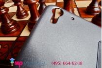 Фирменный оригинальный чехол-книжка для HTC Desire Eye черный кожаный с окошком для входящих вызовов