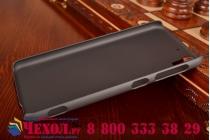 Фирменная задняя панель-крышка-накладка из тончайшего и прочного пластика для HTC Desire Eye черная