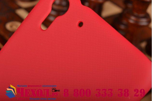 Фирменная задняя панель-крышка-накладка из тончайшего и прочного пластика для HTC Desire Eye красная