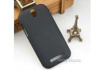 Фирменная задняя панель-крышка-накладка из тончайшего и прочного пластика для HTC Desire SV T326e черная