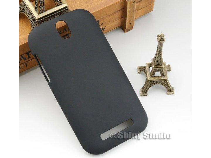 Фирменная задняя панель-крышка-накладка из тончайшего и прочного пластика для HTC Desire SV T326e черная..