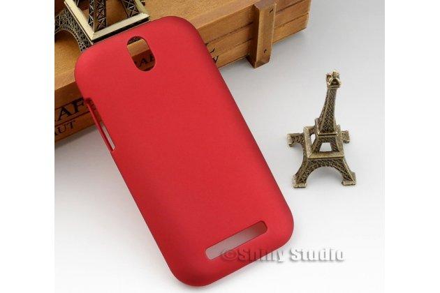 Фирменная задняя панель-крышка-накладка из тончайшего и прочного пластика для HTC Desire SV T326e красная