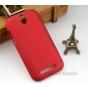 Фирменная задняя панель-крышка-накладка из тончайшего и прочного пластика для HTC Desire SV T326e красная..