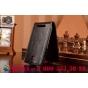 Фирменный оригинальный вертикальный откидной чехол-флип на HTC Desire SV T326e черный кожаный..
