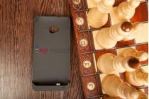 Чехол со встроенной усиленной мощной батарей-аккумулятором большой повышенной расширенной ёмкости 3800mAh для HTC One M7 (801) черный пластиковый + гарантия