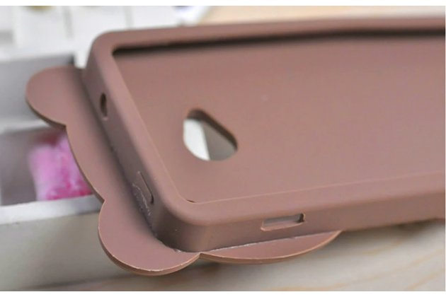 """Фирменная задняя панель-чехол-накладка с объёмным 3D изображением для HTC One M7 Dual Sim (801s) """"тематика Мишка в шарфе"""""""