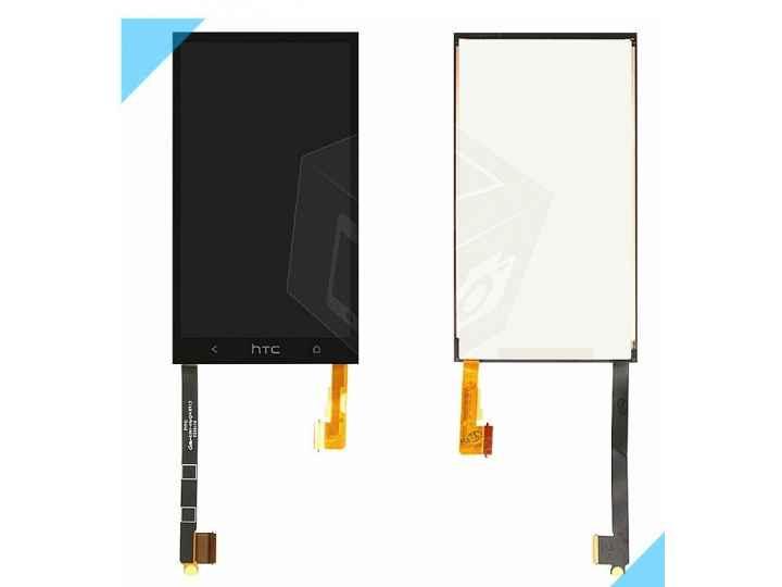 Фирменный LCD-ЖК-сенсорный дисплей-экран-стекло с тачскрином на телефон HTC One M7 черный + гарантия..