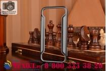 Фирменный чехол-бампер для HTC One M9/ M9s/ M9 Prime Camera Edition черный прорезиненный