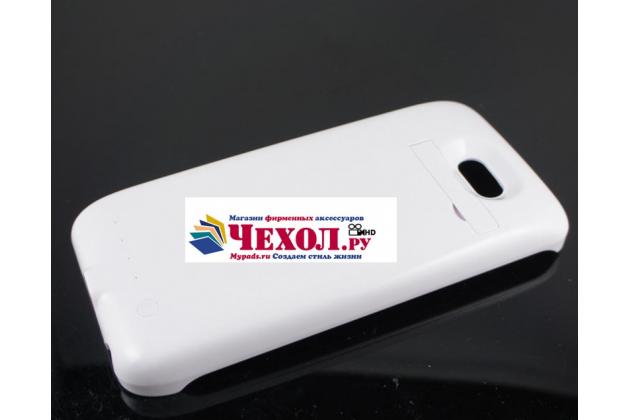 Чехол-бампер со встроенным усиленным аккумулятором большой повышенной расширенной ёмкости 3200mAh для HTC One M9/ M9s белый + гарантия
