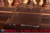 Фирменная ультра-тонкая полимерная из мягкого качественного силикона задняя панель-чехол-накладка для HTC One M9 Plus черная