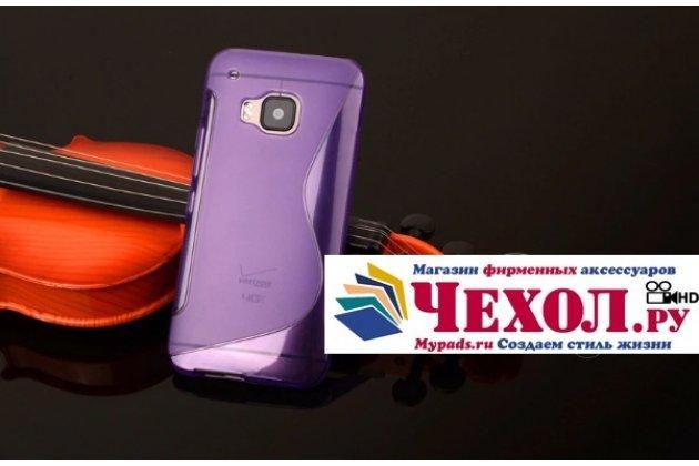 Фирменная ультра-тонкая полимерная из мягкого качественного силикона задняя панель-чехол-накладка для HTC One M9/ M9s/M9 Prime Camera Edition фиолетовая