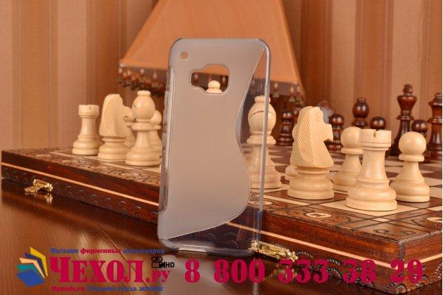 Фирменная ультра-тонкая полимерная из мягкого качественного силикона задняя панель-чехол-накладка для HTC One M9/ M9s/M9 Prime Camera Edition серая