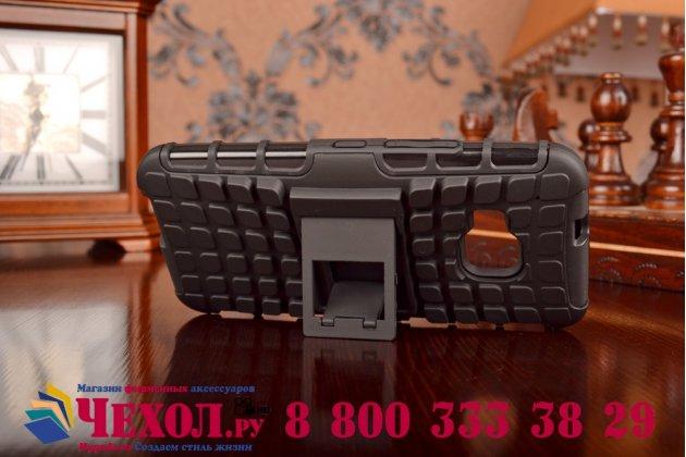 Противоударный усиленный грязестойкий фирменный чехол-бампер-пенал для HTC One M9/ M9s/ M9 Prime Camera Edition черный