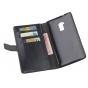 Фирменный чехол-книжка из качественной импортной кожи с подставкой застёжкой и визитницей для HTC One Max T6 (..