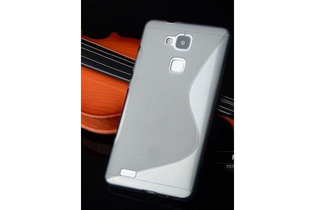Фирменная ультра-тонкая полимерная из мягкого качественного силикона задняя панель-чехол-накладка для HTC One Max T6 (803s) серая